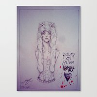 there will be blood Canvas Prints featuring Blood. by n_ist