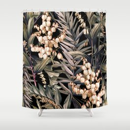 Midnight Garden X Shower Curtain