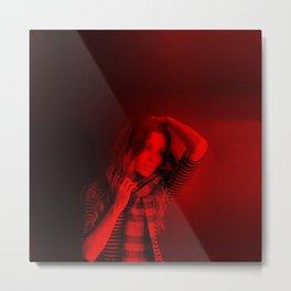 Lili Simmons - Celebrity (Photographic Art) Metal Print