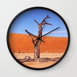 Dead Vlei Namibia IX Wall Clock