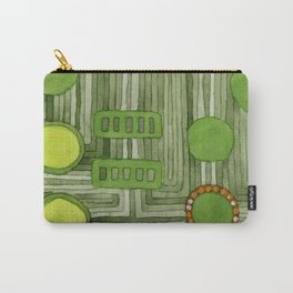 Embedded in Green Carry-All Pouch