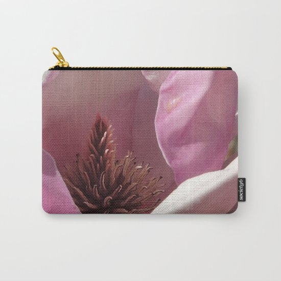Magnolia Blossom Heart Carry-All Pouch