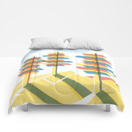 Retro Future Trees Litho Comforters