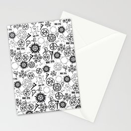 Supernatural Symbols Stationery Cards