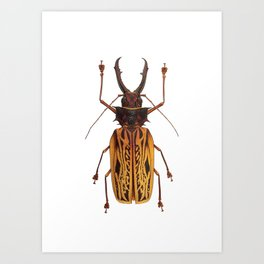 Macrodontia Cervicornis Sabertooth Beetle Art Print
