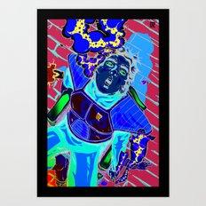 GRZ's Heroes?-Saiyan Art Print