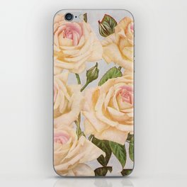 Vintage White Rose Painting (1920) iPhone Skin