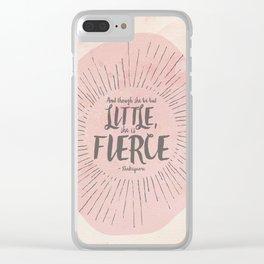 FIERCE - PINK Clear iPhone Case