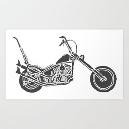 Moto Machina Art Print