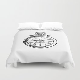 Time Waits For No One Duvet Cover