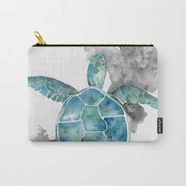 Bright Turtle in watercolor Carry-All Pouch