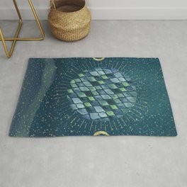 We are one - Planet and moons - Lunes Rug