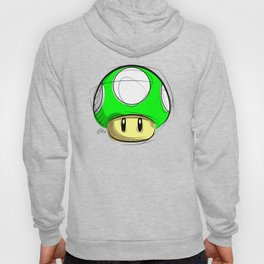 1 UP Mushroom Digital Drawing, Games Art, Super Mario, Nintendo Art Hoody