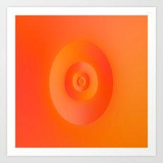 Flip in Orange and Red Art Print