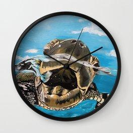 Sea Turtle By Noelle's Art Loft Wall Clock