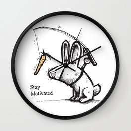 Stay Motivated Wall Clock