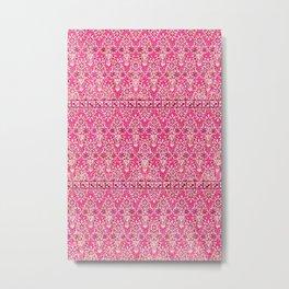 sarasa floral in coral Metal Print
