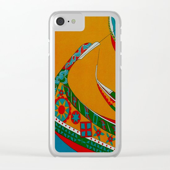 Portuguese Fishing Boats - Vintage Travel Clear iPhone Case