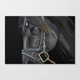 English Horse in Pastel Canvas Print
