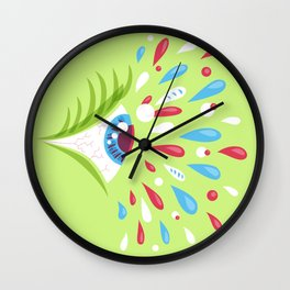 Psychedelic eye Wall Clock