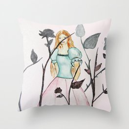 Queen of  Thorns Throw Pillow