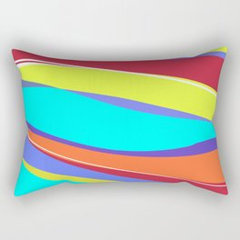 Waves of Colour Rectangular Pillow