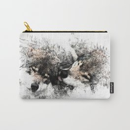 Abstract Wolf Carry-All Pouch