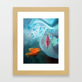 Deep Blue Framed Art Print