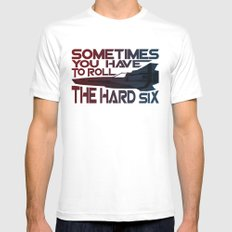 Hard Six X-LARGE White Mens Fitted Tee