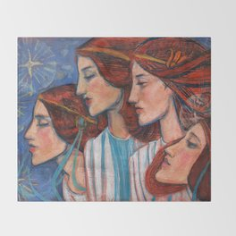 Tribute to Art Nouveau Throw Blanket