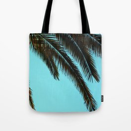 High-Contrast Palm Fronds Tote Bag