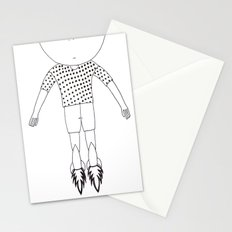 Child foot rockets Stationery Cards