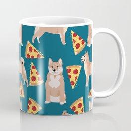 shiba inu pizza dog breed pet pattern dog mom Coffee Mug