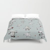 robots Duvet Covers featuring Robots by Miss Marley