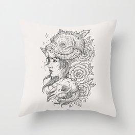 Tauntaun Girl Throw Pillow
