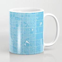 Lincoln map blue Coffee Mug