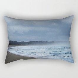 Fisherman at shore Rectangular Pillow