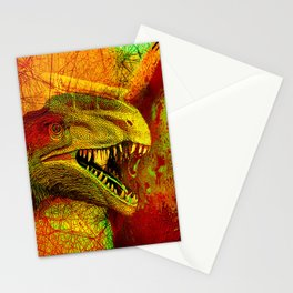 prehistoric extiction   (This Artwork is a collaboration with the talented artist Agostino Lo coco) Stationery Cards