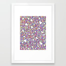 triangles (quatre) Framed Art Print