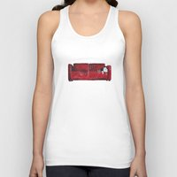 sofa Tank Tops featuring cat in a red sofa  by memories warehouse by @aikogg
