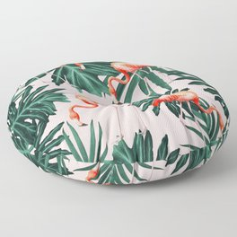 Summer Flamingo Jungle Vibes #1 #tropical #decor #art #society6 Floor Pillow