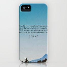 T.S. Eliot: Exploration iPhone Case