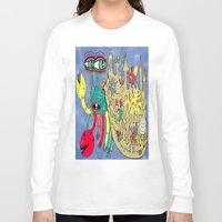 downton abbey Long Sleeve T-shirts featuring Downton Crabbey by Amy Gale
