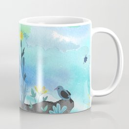 Blue Garden I Coffee Mug