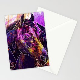Three Horses Stationery Cards
