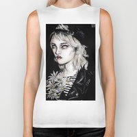 sky ferreira Biker Tanks featuring Sky ferreira no………………………..11 by Lucas David