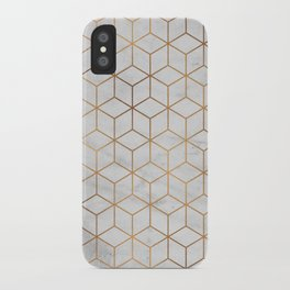 Marbled Copper Cubes iPhone Case