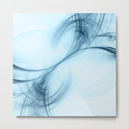 Sky Blue Pulsar Metal Print