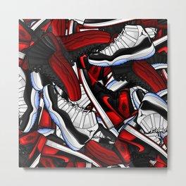 Jordan i xi xii Pattern Metal Print