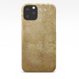 Gold Rush, Golden Shimmer Texture, Exotic Metallic Shine Graphic Design iPhone Case